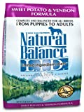 Natural Balance Dry Dog Food, Grain Free Limited Ingredient Diet Venison and Sweet Potato Recipe, 15 Pound Bag