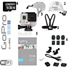 GoPro HERO3+ Hero 3+ 10MP Full HD 1080p 60 fps Built-In Wi-Fi Waterproof Wearable Camera Silver 32GB Edition (Military Bundle)