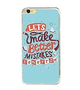 Printvisa Improvisation Quote For Future Back Case Cover for Apple iPhone 6 Plus::Apple iPhone 6S Plus