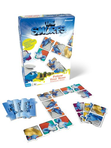 Smurfs Follow Your Nose Dominoes Game