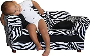Fantasy Furniture Wave Sofa, Zebra