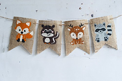 woodland-party-banner-forest-animals