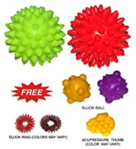 Energy Ball SHARP Pointed for Hand / Foot Acupressure Massager Set of 2 Pcs