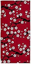 CafePress Gothic Cherry Blossoms Pattern Beach Towel - Standard White