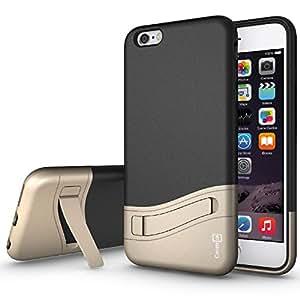 iPhone 6s Plus Case, [Diverge Series] Slim Fit Hard Hybrid Kickstand Cover Phone Case for Apple iPhone 6s Plus (2015) / iPhone 6 Plus (5.5) - Black Gold