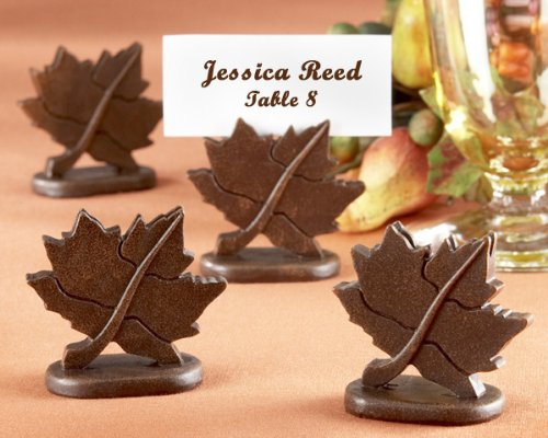 Classic Maple-Leaf Place Card Holder (12 Sets of 4 for a total of 48 Holders)