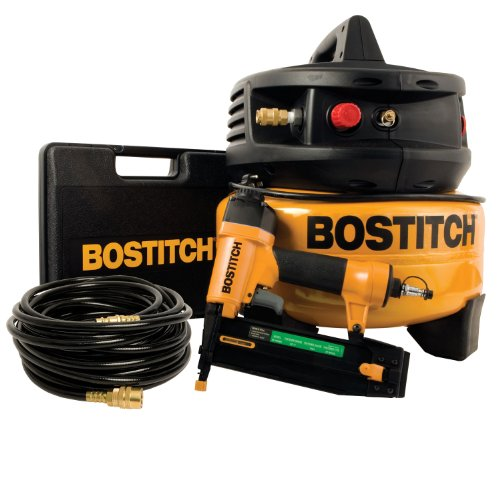 FactoryReconditioned Bostitch U/CPACK1850BN 18Gauge Brad Nailer and  Compressor Combo Kit