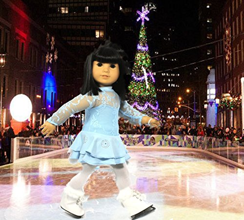 [Arianna Ice Skating Dress & Skates Fits 18 inch American Girl Dolls] (Ice Skating Dress Costumes)