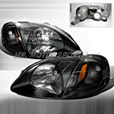 HONDA CIVIC JDM HEADLIGHTS - BLACK