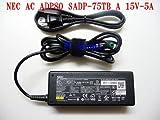 NEC純正 BSACA02NE15 ADP80 SADP-75TB A/PC-VP-BP48 15V 5A ACアタプター