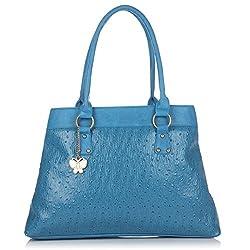 Butterflies Handbag (Blue) (BNS 0531 BL)