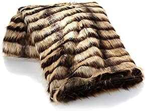 Adrienne Landau Suntan Lynx Faux Fur Throw50quotW x 70quotL