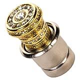 Gold Deluxe Crystal Rhinestone Car Automotive Cigarette Lighter Plug DC 12V
