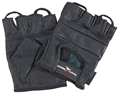 Precision Training Leather Weightlifting Gloves, M [Misc.] by Precision Training