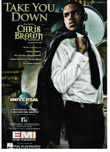 Chris Brown - Take You Down (Chris Brown Sheet Music compare prices)