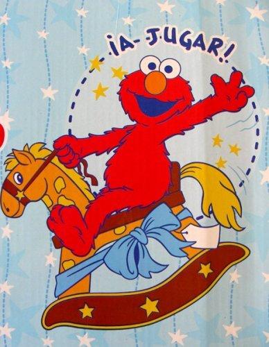 Sesame Street Baby Throw- Rocking Horse Theme Elmo Plush Blanket