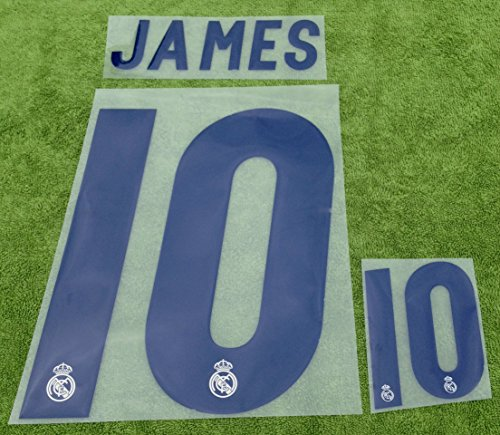 JAMES #10 Real Madrid Home 2016-2017 Soccer Jersey Kit Football Shirt Print Name Number Set Adults Transfer (Cristiano Ronaldo Print Number compare prices)