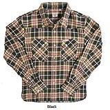 (フラットヘッド)The Flat Head ヘビー フランネル チェック ウエスタンシャツ 長袖 hnw-74w 42 ブラック