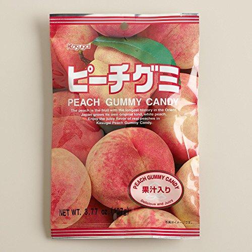 Japanese Fruit Gummy Candy from Kasugai - Peach - 107g (Kasugai Fruit Gummy Candy compare prices)
