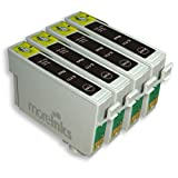 4 Moreinks Compatible Black Printer Ink Cartridges to replace Epson T0711by Moreinks