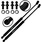 Wisconsin Auto Supply WGS-143-2 Two Front Hood Gas Charged Lift Supports With 4 Replacement Studs and Washers