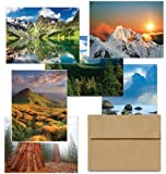 Majestic Scenery 36 Note Cards for $9.99 - 6 Different Styles Including Kraft Envelopes.