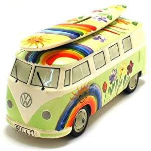 bulli spardose vw bus t1 surfboard hippie gr n. Black Bedroom Furniture Sets. Home Design Ideas