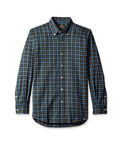 J. McLaughlin Men's Plaid West End Button Down Trim Fit Shirt