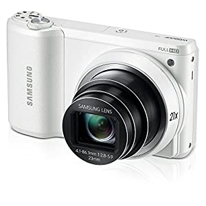 Samsung (WB800F) Digital Camera 16.3MP 21x Optical Zoom Wi-Fi 1080p HD Video (White) (Certified Refurbished)