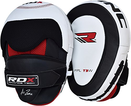 RDX Cowhide Leather Boxing Hook and Jab Pads MMA Strike Shield Thai Kick Focus Punching Mitts Target Training