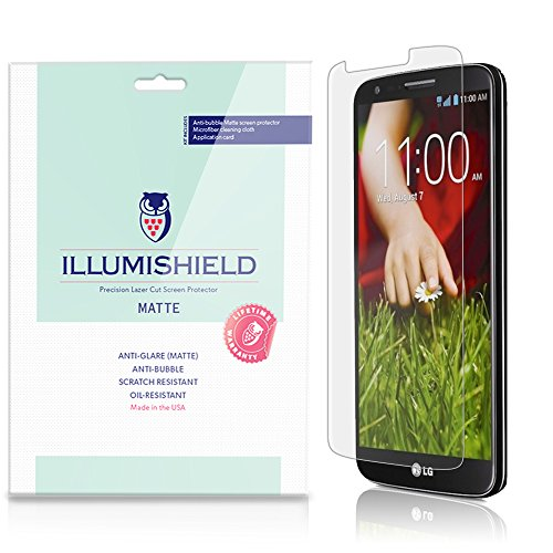 iLLumiShield - LG G2 Screen Protector Japanese Ultra Clear HD Film with Anti-Bubble and Anti-Fingerprint - High Quality (Invisible) LCD Shield - Lifetime Replacement Warranty - [3-Pack] OEM / Retail Packaging (Lg G2 Sprint Screen Replacement compare prices)