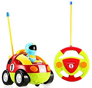 Cartoon R/C Race Car Radio Control Toy for Toddlers by Liberty Imports (ENGLISH Packaging) from Liberty Imports