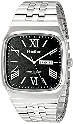 Armitron Men's 20/4968BKSV Day/Date Function Dial Silver-Tone Expansion Band Watch
