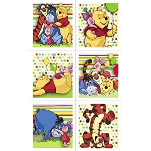 Winnie The Pooh Stickers - 4 Sheets