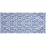 Camco 42841 Reversible Outdoor Mat (8' x 16', Blue Swirl)