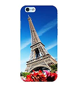 Fuson Premium Back Case Cover Eiffel tower With Pink Background Degined For Apple iPhone 6