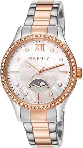 Esprit Mujer-reloj analógico de cuarzo de acero inoxidable Cordelia ES107002010