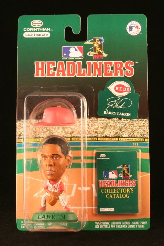 BARRY LARKIN / CINCINNATI REDS * 3 INCH * 1996 MLB Headliners Baseball Collector Figure