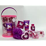 Hello Kitty 7 Piece Bath Gift Set in Reusable Handled Cannister