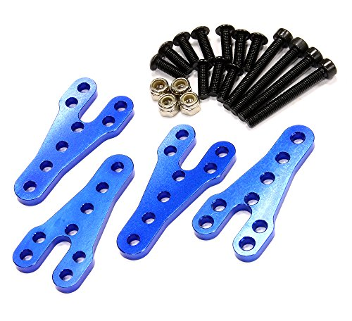 Integy RC Hobby C24949BLUE Billet Machined Upper Shock Mount Lift Kit for Axial SCX-10 Scale Off-Road (Lift Kit Rc compare prices)