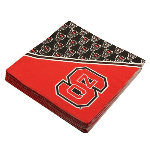 NCAA North Carolina State Wolfpack 16-Pack Beverage Napkins