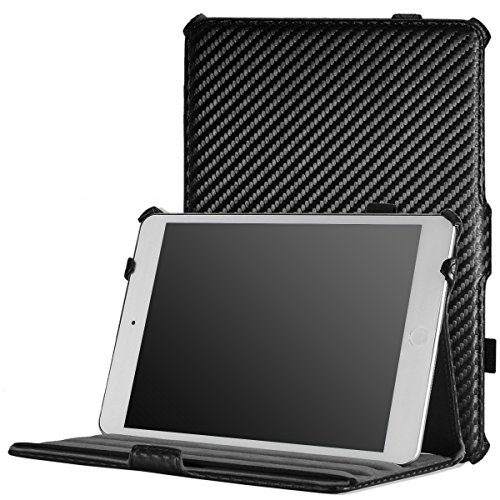 MoKo iPad Mini Case, iPad Mini 2 / 3 Case, Slim-Fit Cover Case for Apple iPad Mini 1 (2012) / iPad Mini 2 (2013) / iPad Mini 3 (2014), Carbon Fiber BLACK (Will not fit iPad Mini 4) (Ipad Mini 3 Carbon Fiber Case compare prices)