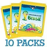 Offizielle Panini FIFA WM 2014 in Brasilien (Brasil) 10x Sticker Packs (50 Gelegentliche Aufkleber insgesamt)