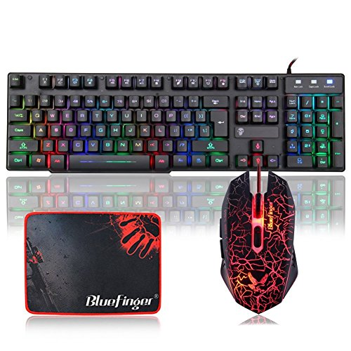 BlueFinger-Rainbow-Gaming-Keyboard-and-Mouse-Set