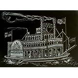 """WASO-Hobby - 4er Scrapy Kratzbilder Set - Schiffsmotive / Silber - 24 x 30 cm *Gro�*von """"WASO-Hobby"""""""