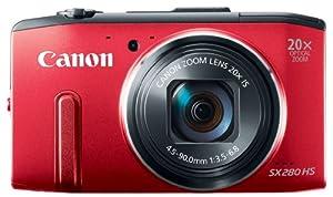 Canon PowerShot SX280 HS Appareil photo numérique compact 12,1 Mpix Zoom optique 20x Rouge