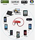 Intsun® B99 Hi-Fi & stereo Wireless Bluetooth Headset Headphone Earbuds with Built-In Mic for Hands Free Calling and Music Streaming compatible with Samsung Galaxy HTC Nokia Smartphones Tablets and Apple Notebooks Laptops or Desktops all Bluetooth enabled devices. (Red)