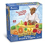Learning Resources Pretend and Play Sliceable Fruit and Vegetable Set