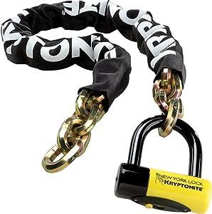 "Kryptonite 999492 Black 14mm x 60"" (1415) New York Fahgettaboudit Chain and New York Disc Lock"