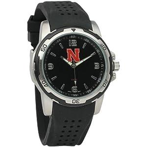 NCAA Nebraska Cornhuskers Mens Stealth Sport Watch by Logo Art